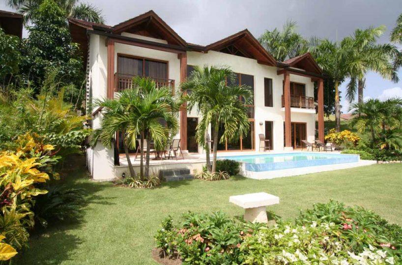 Puerto Bahia Villa 36 garden and pool view