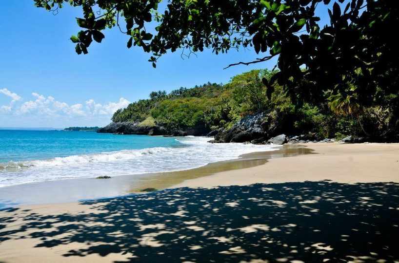 The virtually private beach accessible to guests at Hotel Las Ballenas Escondidos