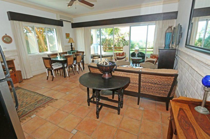 Interior view to patio doors