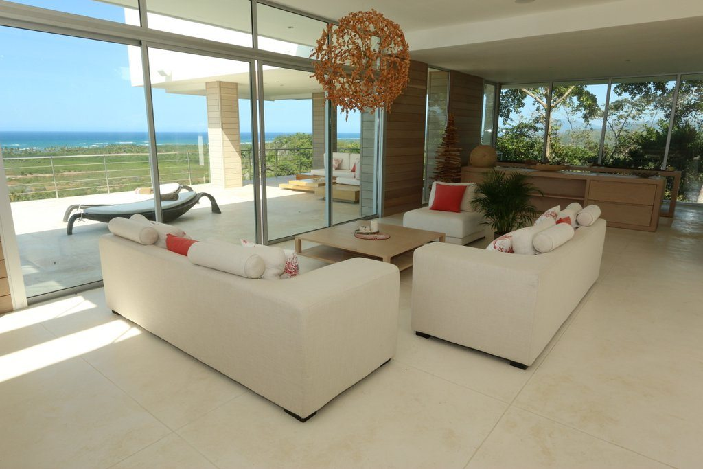 Villa Living Area - Inside the villa seating area and ocean views.