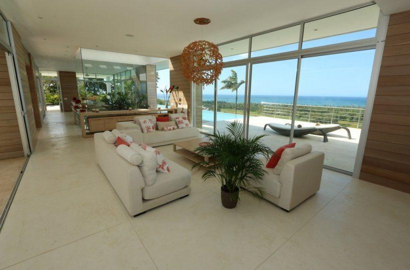 Interior View - The villa enjoys open plan interior as well as extensive views of the ocean.