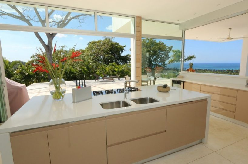 Kitchen - The kitchen is modern and also enjoys open views.