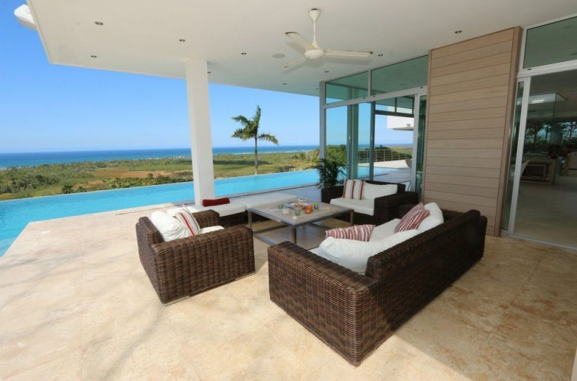 Ocean Views - The ocean is visible from almost every part of the villa and terraces.