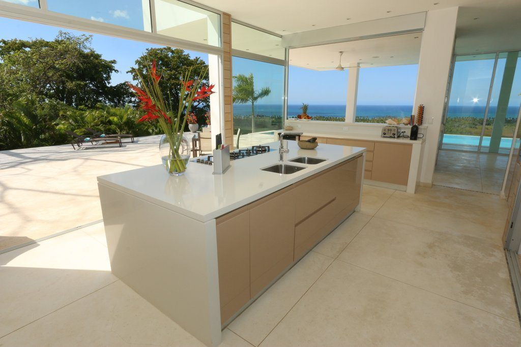 Kitchen 2 - A further image showing the villas kitchen clean cut lines and views.