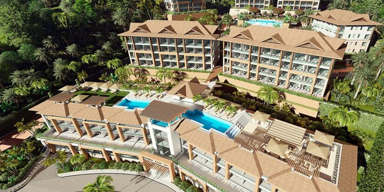 The development is an exclusive oceanfront resort with private residential and tourist accommodations.