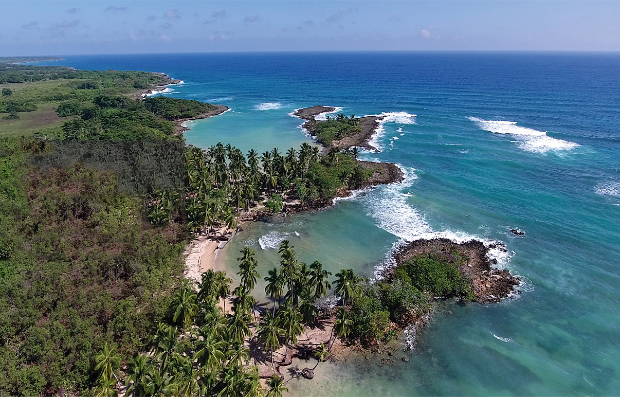 aerial-view-3-bays-beachfront-for-sale-in-cabrera-