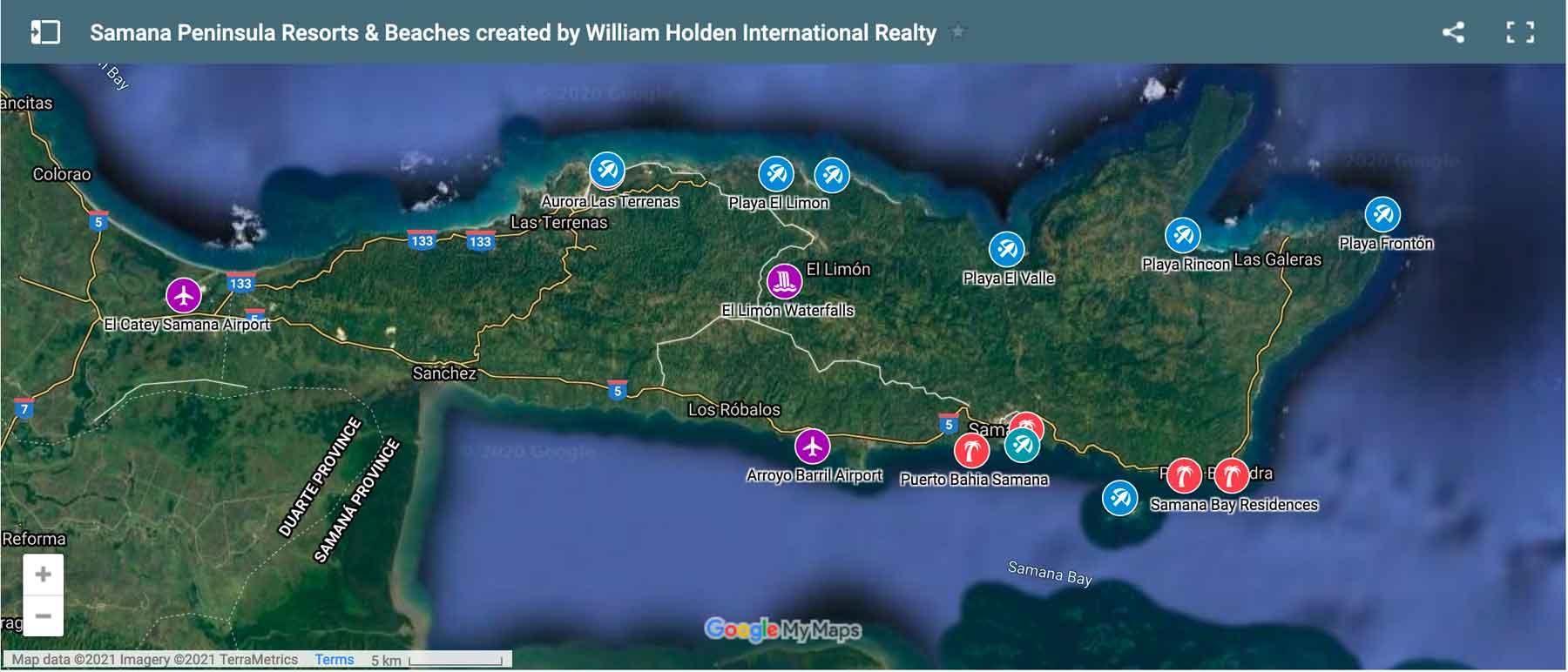 Map of Samana Bay Residences Resorts